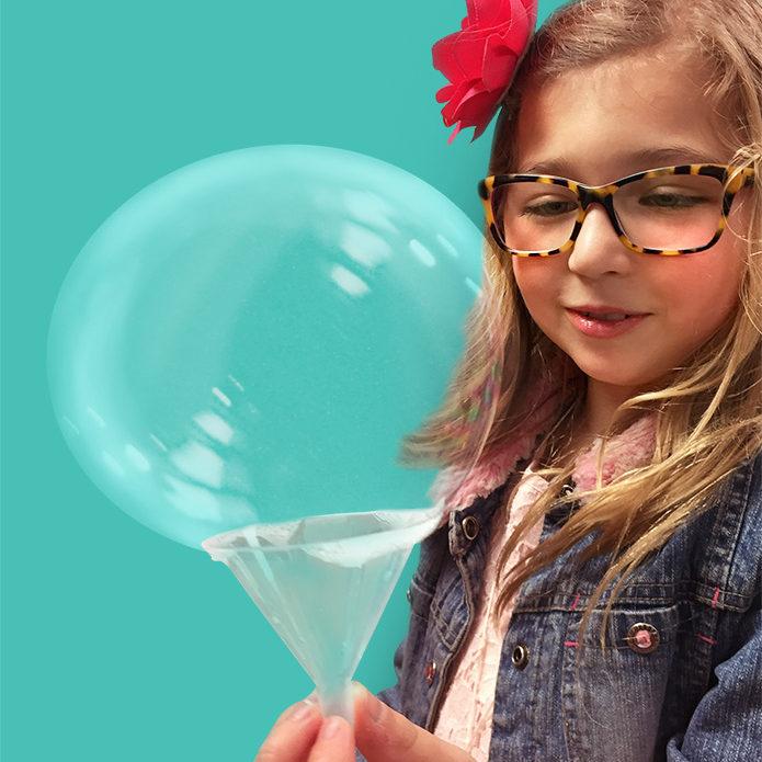 Expérience bulle, activité de la boite a science